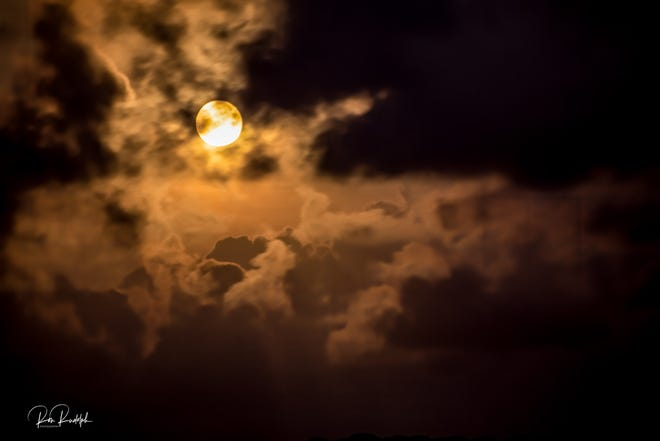 Moon rise over St. Vincent Island