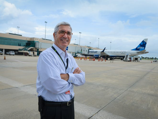 Rick Piccolo, president and CEO of Sarasota-Bradenton International Airport, in a 2015 photo. Compared to August 2019, passenger traffic was down 57% at SRQ last month.