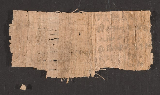 A sample fragment from the bundle of purported Coptic texts that led some scholars to wonder if early Christian history needed to be rewritten.