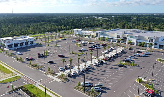 A Publix anchors West Villages Marketplace, an example of the improvements made by the developer of Wellen Park.