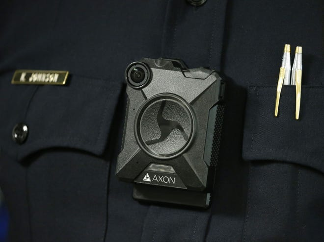 The Axon Body 2 body camera. Although body-worn cameras are becoming a police standard nationwide, the Sarasota Police Department has not used them. City commissioners are poised to consider the issue in October.