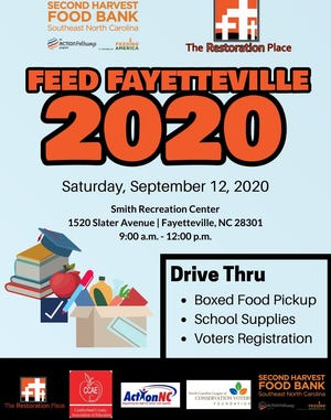 Seven groups will be giving away food and school supplies and registering voters Saturday. [Contributed photo]