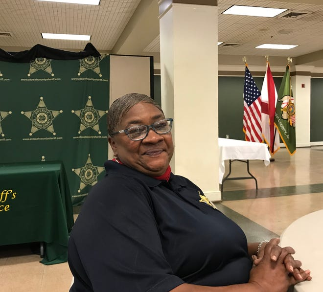 Janet Daniel was recognized Friday for her 34 years working with inmates at the Etowah County Detention Center. The sheriff's office honored employees with 20 years or more of service.