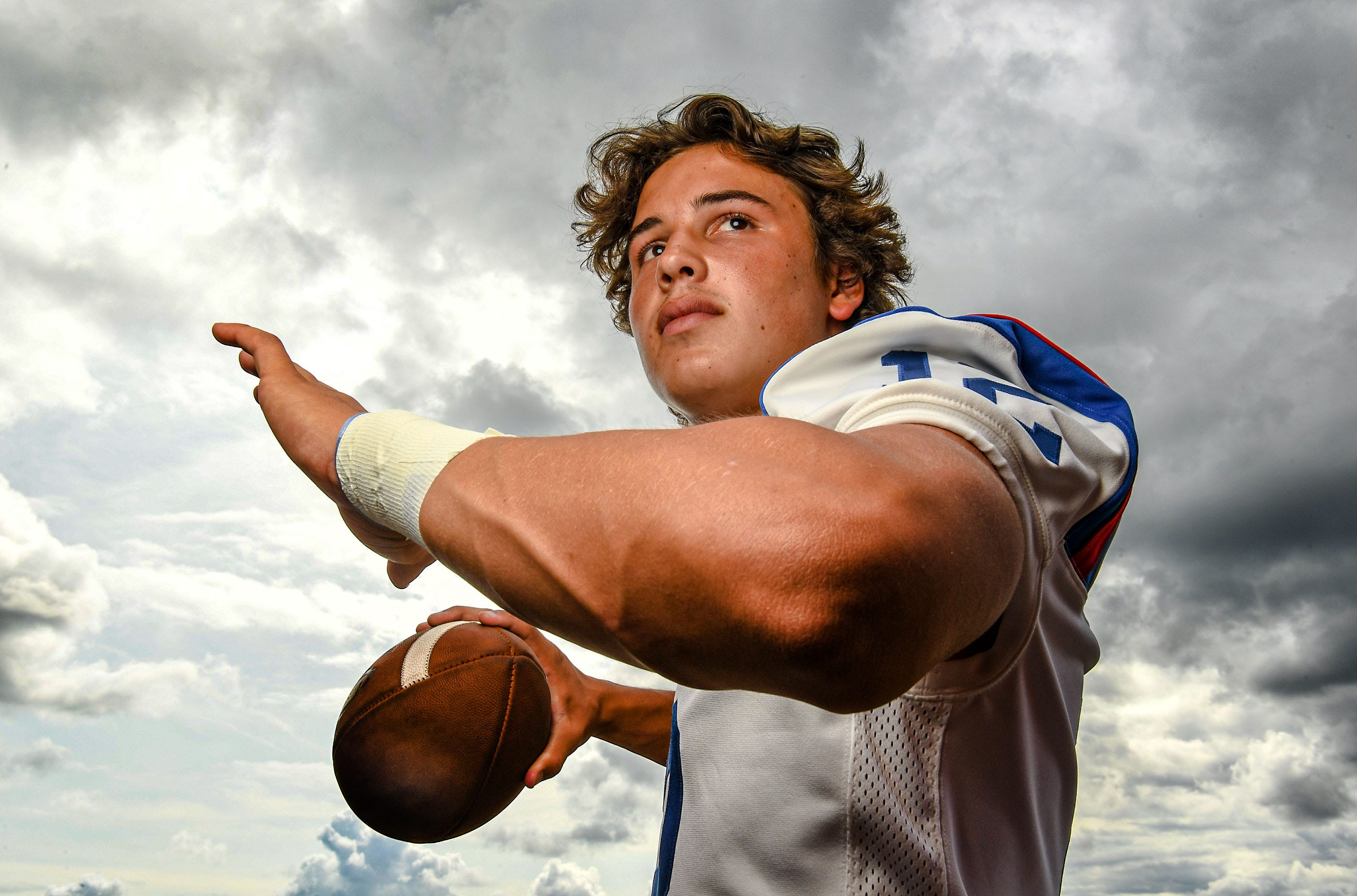 Pickens football quarterback Drew Campbell in Pickens, S.C. September 2020.