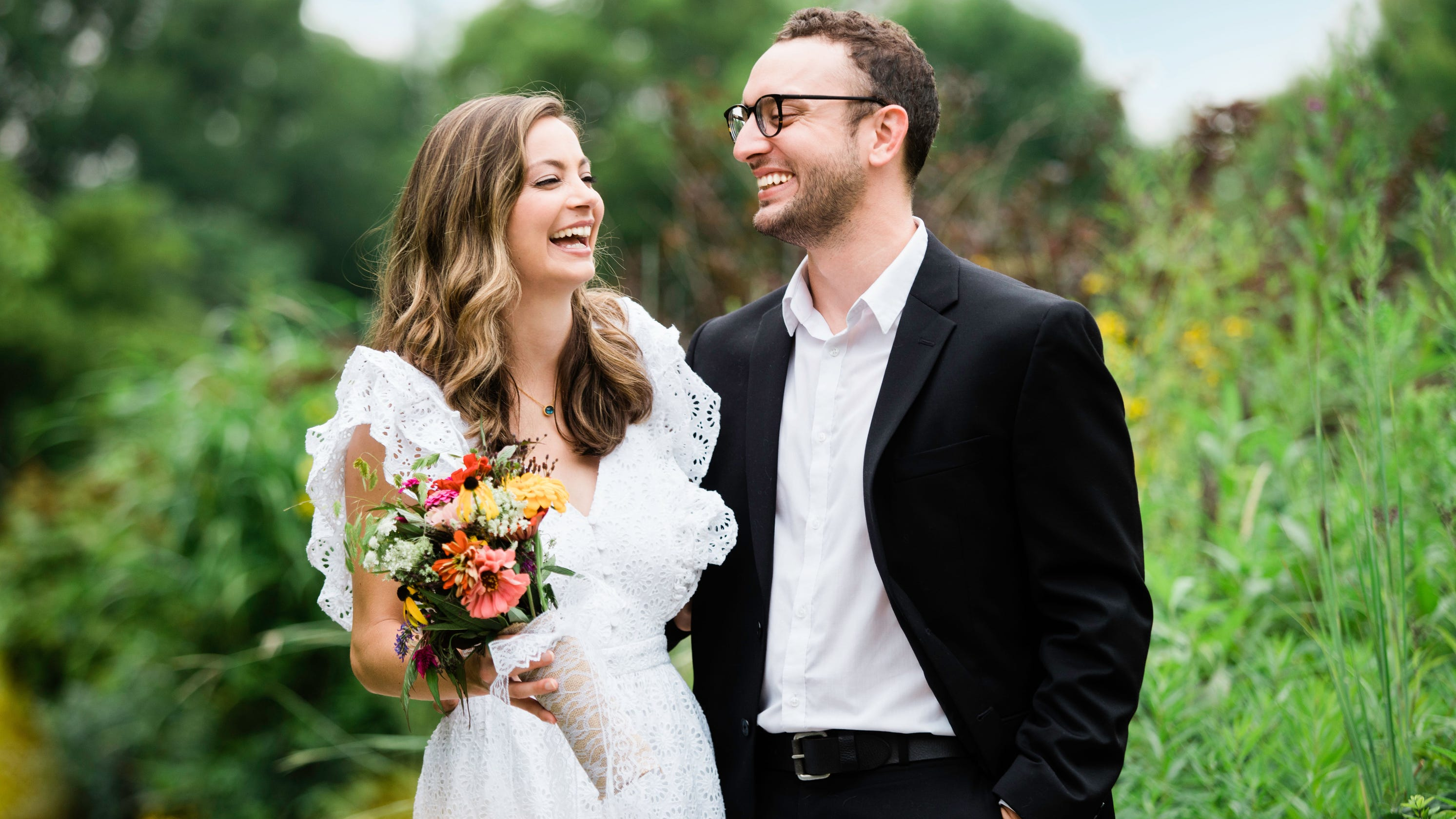 'Getting the in-sickness part out of the way': WLWT anchor and husband marry amid cancer diagnosis