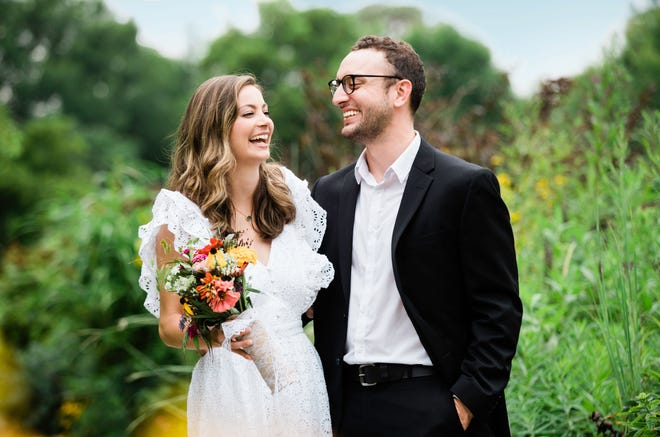 """WLWT Meteorologist Allison Rogers married her husband Josh Robinson in a small ceremony in August following his cancer diagnosis. The couple said they wanted """"to be a team"""" as Robinson went into treatment."""