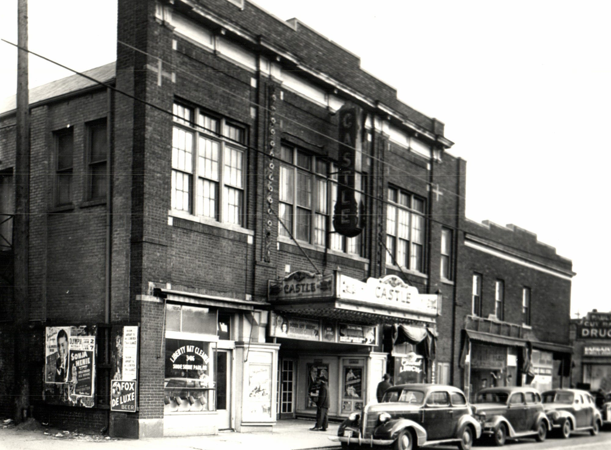 The Castle Theater in the Black Bottom section of Detroit, Michigan, the African-American section of town.
