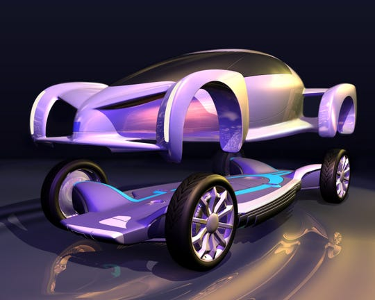 GM's AUTOnomy concept car previewed the skateboard chassis most modern electric vehicles use.