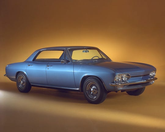 The 1964 GM Electrovair electric research car could go up to 80 miles on a charge.