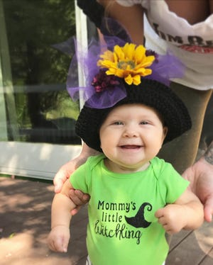 Elowyn Watkins is shown in a photo provided by her mom, Holly Watkins,32, of Ortonville. Elowyn was born shortly after Michigan grinded  to a halt in March 2020 when the novel coronavirus was first reported.