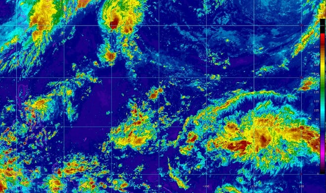 Current conditions over Guam on Friday afternoon