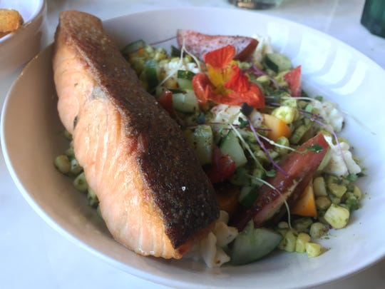 Seared salmon at Gallery Pastry Bar.