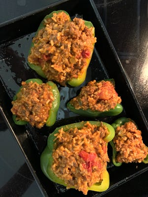 The peppers from your CSA might not be big enough to stuff. Don't plan until they arrive!