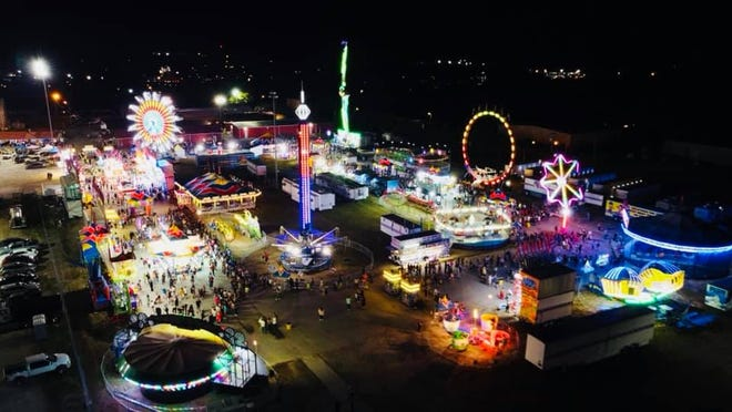 Aerial photo of the 2020 Dickson County Fair.