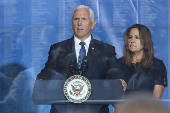 Vice President Mike Pence and his wife Karen read Bible verses in honor of those lost in the attacks. The ceremony and reading the names of victims of the attacks of 911 were moved to Zuccotti Park, a block up from the World Trade Center Memorial in lower Manhattan, NY on September 11, 2020. It was sponsored by the Tunnels to Towers Foundation. This was the first time since the terror attacks of Sept. 11, 2001, there was no ceremony and reading of the names at Ground Zero because of fears of spreading the COVID-19 virus.