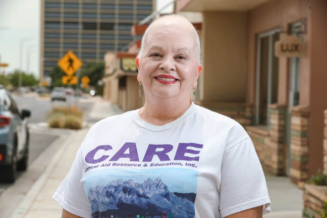 CARE founder Yoli Diaz stands in front of the nonprofit's office in Las Cruces on Friday, Sept. 11, 2020. The organization helps provide funding for cancer patients.