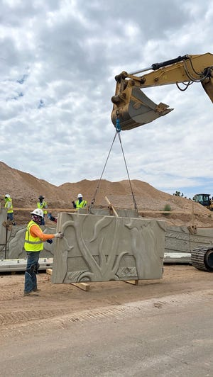 Construction of the I-25/University project is getting an artistic addition from designs from local artist Collette Marie.