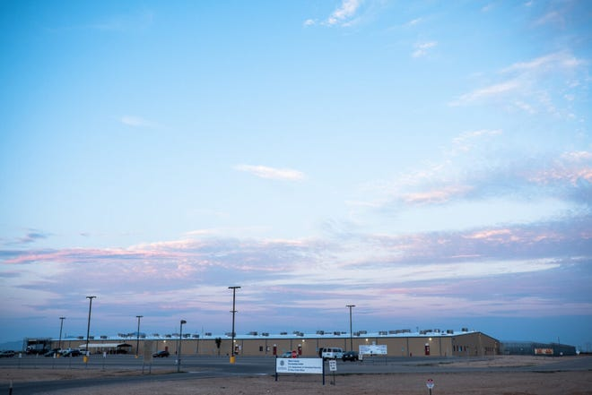 A view of the Otero County Processing Center, a U.S. Immigration and Customs Enforcement detention facility, in Chaparral, New Mexico, on Sunday, August 30, 2020.