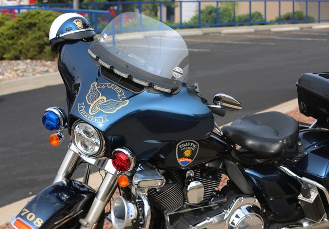 A Las Cruces Police Department motorcycle.