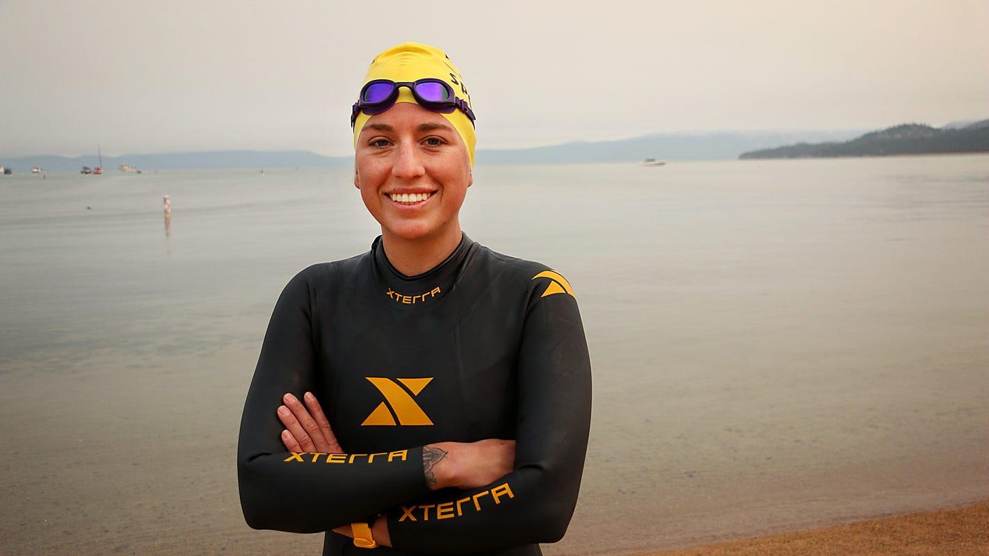 Why one woman is doing the 'Tahoe Trifecta': Swimming, biking and running around Lake Tahoe