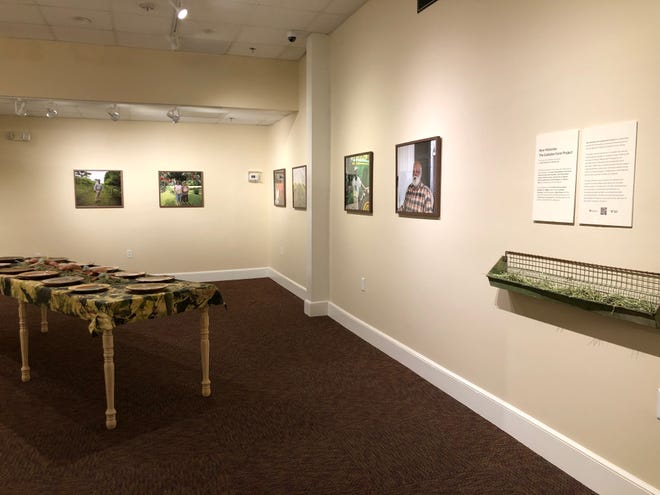 The Gadsden Farm Project exhibition is on display in the Munroe Family Community Gallery at Gadsden Arts in Quincy.