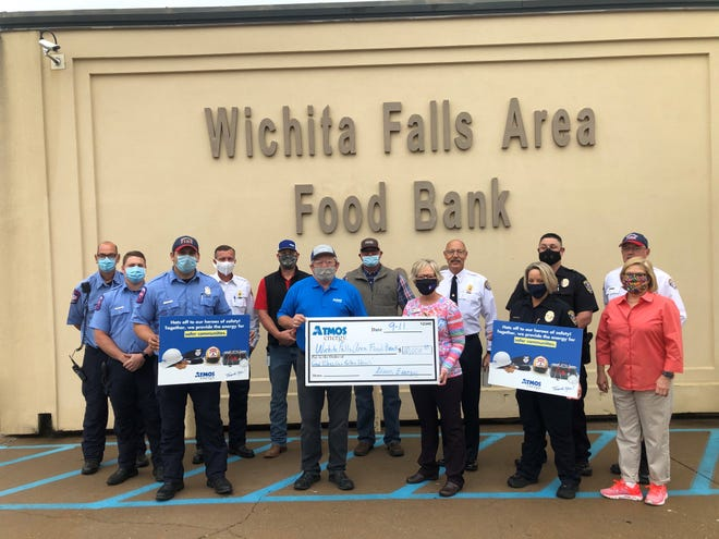 Atmos Energy donated $10,000 to the Wichita Falls Area Food Bank in honor of first responders and fallen heroes in remembrance of 9-11 anniversary.