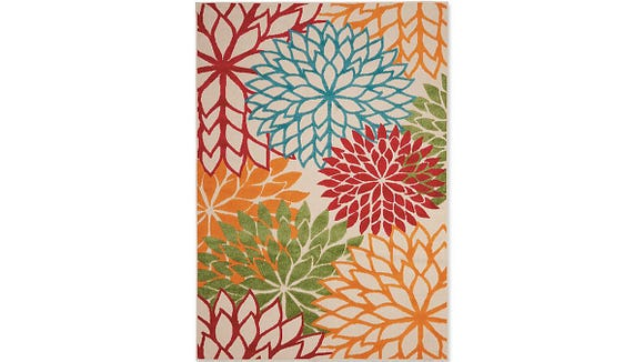 This colorful area rug has a ton of rave reviews.
