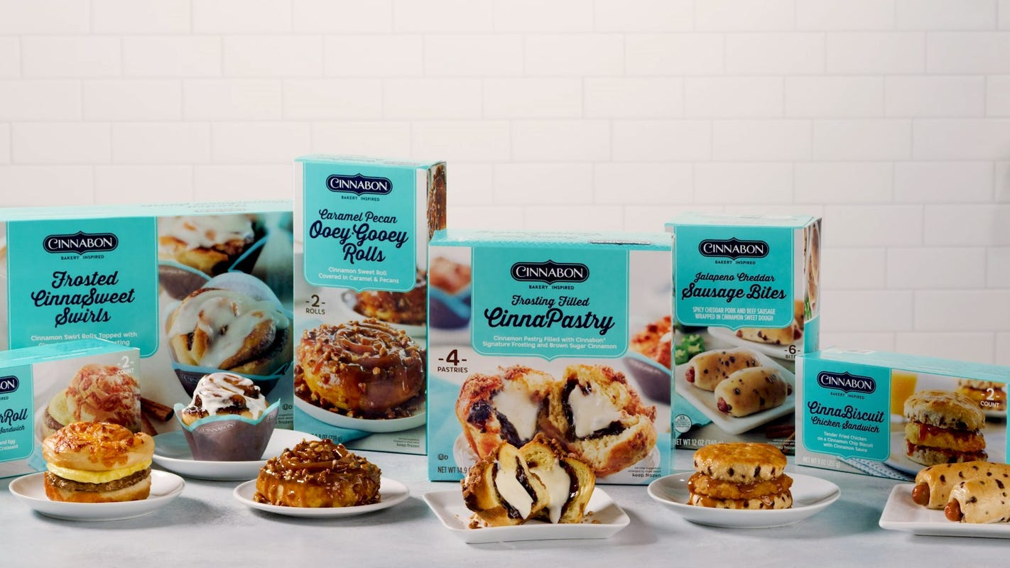 Cinnabon frozen cinnamon buns, chicken sandwich now available at Walmart, coming soon to Target, Safeway
