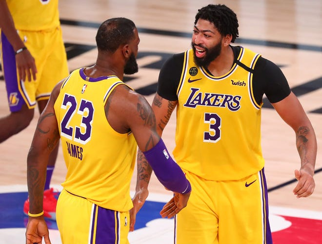 LeBron James, Anthony Davis and the Lakers are the heavy favorites entering the West finals.