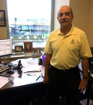 Artie DeSisto's office is on the 14th floor of Gateway One building, overlooking PNC Park and Heinz Field.