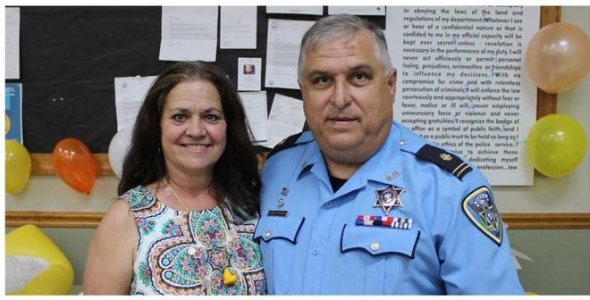 Maj. Dean Savoie and his wife Shelly.