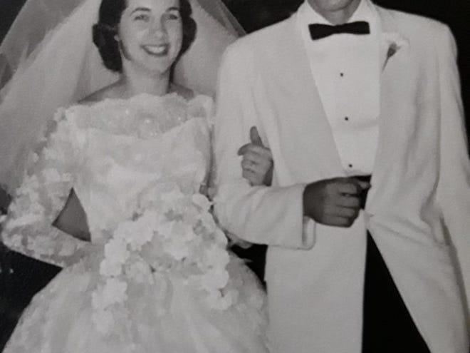 Frank and Dottie Kreiger on their wedding day
