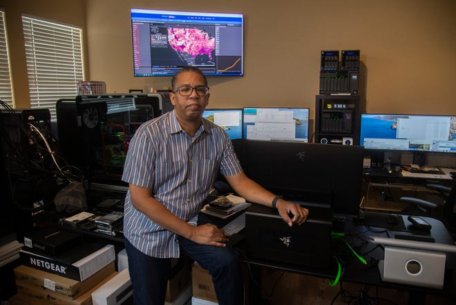 Data scientist Chuck Davis with Bayesiant is developing a statistical model that could help the public and private sectors pinpoint resources and alert individuals as to their risk of adverse outcomes from COVID-19.