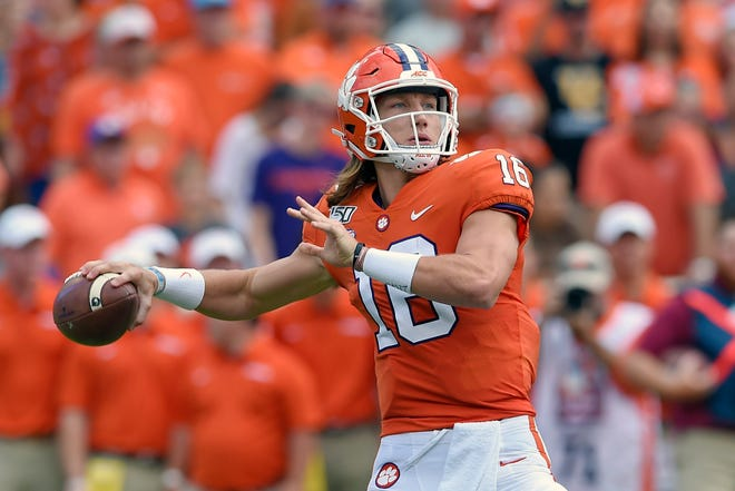 Heisman Trophy favorite Trevor Lawrence leads No. 1 Clemson in its season opener Saturday night at Wake Forest.