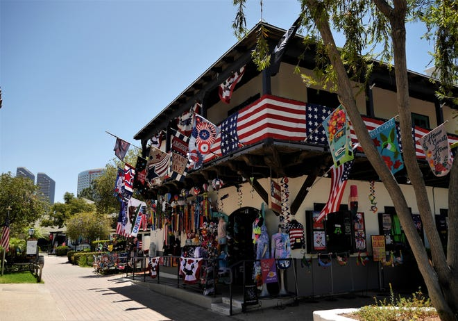 Eclectic shops are everywhere in Seaport Village in downtown San Diego.