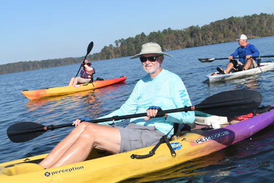 Bob Evenson, seen here at Kincaid Lake, plans go on a Black Friday Paddle on the Vermilion River. The event is hosted by Pack & Paddle in Lafayette.