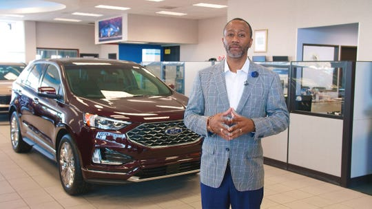 Mark Douglas, president of Avis Ford in Southfield, sees Ranger appeal increasingly growing. He is seen here in the showroom in July. When not having his photo taken, Douglas wears a face mask in the office.