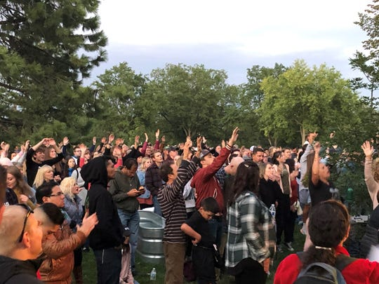A worship service/protest takes place Friday, Sept. 11, in City Park in Fort Collins, organized by musician Sean Feucht.