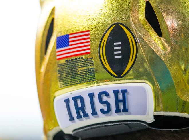 A South Bend Tribune archive photo from Notre Dame football coverage. As part of Notre Dame's COVID-19 safety protocols, photojournalists were not allowed inside Notre Dame Stadium for Saturday's game against Duke.