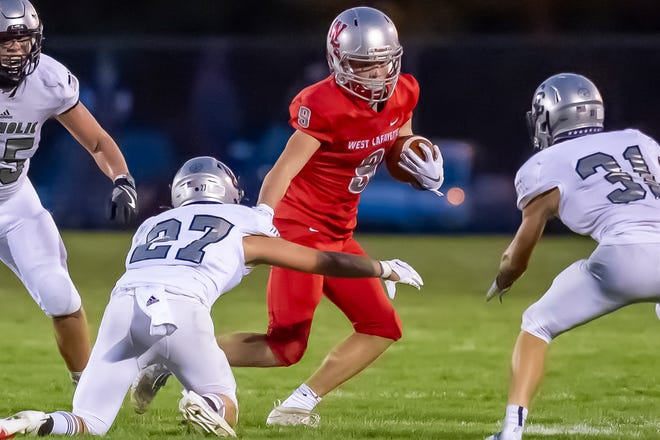 West Lafayette sophomore Max Mullis rushed for 213 yards in Friday's win over Central Catholic