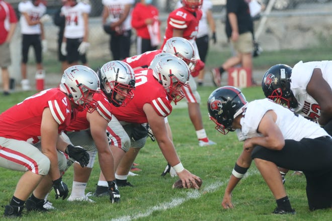 The Shelby offensive line will be a key factor on if the Whippets can pick up a huge Richland County win over Lucas on Friday.