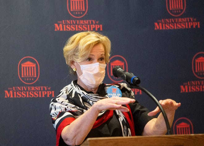 Dr. Deborah Birx address reporters in Oxford, Miss., on Saturday September 12, 2020., after participating in a roundtable with University of Mississippi leadership, state and local officials, and healthcare professionals.