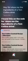 Old Siri with a dark background that takes over your screen