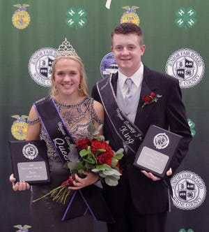 Riley Stull and Tim Gunkelman were named the 2020 Wayne County Fair queen and king.