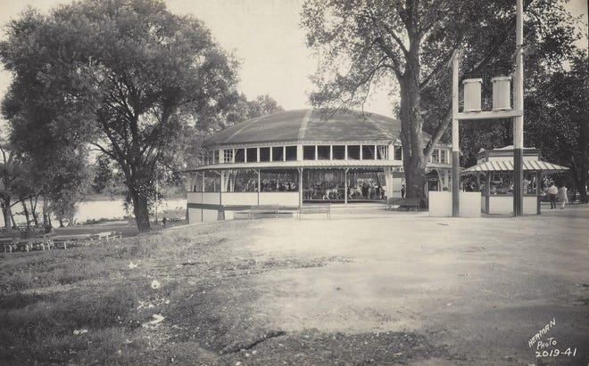 The Marcus Illions Carousel with 64 hand-carved horses was housed in a building constructed by the Miller Co. with lumber purchased from the Cuyahoga Lumber Co.