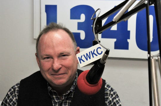 """Matt Smith more recently has been doing his ag report from the home """"studio"""" in Tuscola, but did his final one Friday from KWKC."""