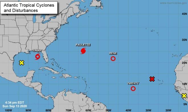 The tropics at 4:34 p.m. Sept, 13, 2020.