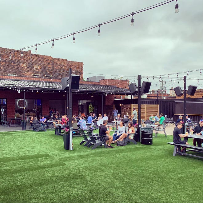 """Covington Yard, located at401 Greenup Street, isan outdoor space where patrons can listen to live entertainment, buy drinks and purchase good eats from food """"shipping"""" container restaurants."""