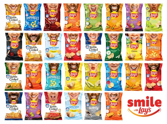 2020 Lay's Smiles Bag Composite Image