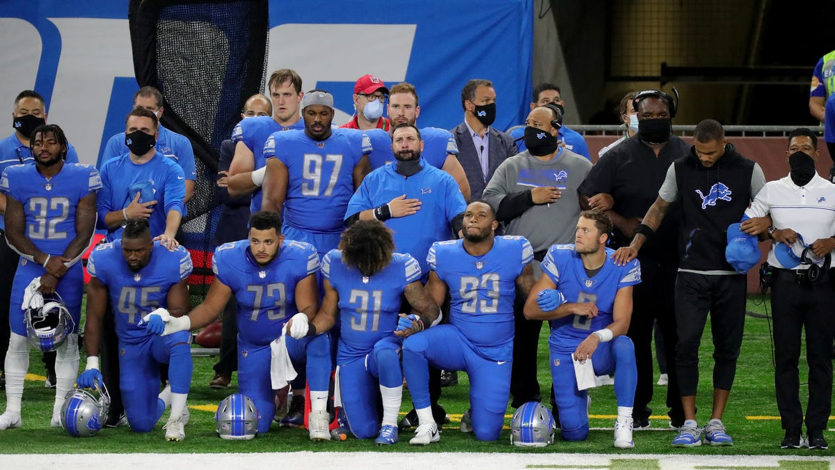 Detroit Lions' Matthew Stafford explains why he took knee for anthem